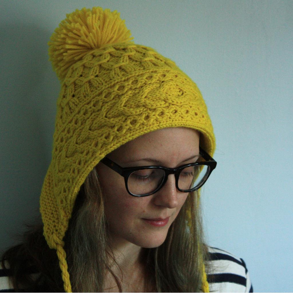 Knit Bonnet Pattern : Pattern: Neon Ski Bonnet