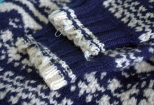Monday Mending: Alex&#8217;s Sweater