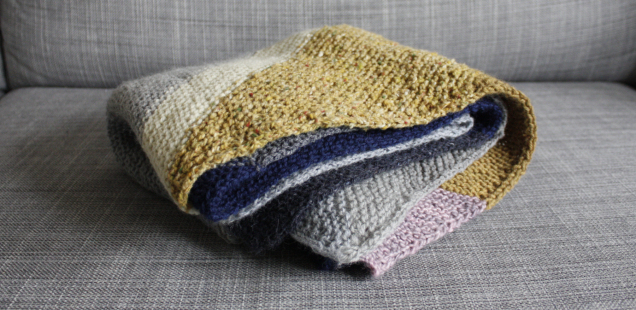 Keeping Busy, Keeping Warm: Colorblock Bias Blanket